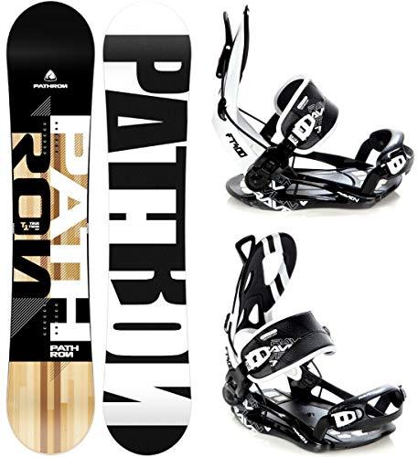 Pathron Snowboard Set: Snowboard TT + Bindung Raven Fastec FT400 (155cm + FT400 Black L)