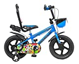 Hi-Fast 14 inch Kids Cycle for 3 to 5 Years Boys & Girls with Training Wheels (Hawk-MW14T-Semi-Assembled)