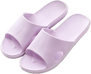 YAXY Quick Drying Non-Slip Slippers, Bathroom House and Pool Sandals, in-Door Slipper for Gym, Shower Slippers Soft Sole Open Toe House Slippers for Men and Women