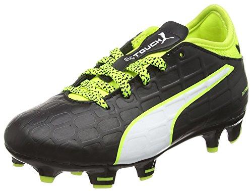 Puma Unisex-Kinder evoTOUCH 3 FG Jr Fußballschuhe, Schwarz (Black-White-Safety Yellow 01), 38.5 EU
