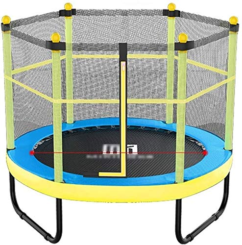 YAOJIA Indoor trampoline Foldable Fitness Trampoline With Fence Workout Mini Rebounder Trampoline for kids | Small exercise trampoline for indoor use (Color : Blue, Size : 48 inches)