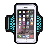 Triomph Armband for iPhone X, iPhone 8 Plus, 7 Plus, 6 Plus, 6s Plus, 6s iPod Galaxy S6, S6 Edge, S7 Edge Plus, for Running, Sports, Jogging, Hiking, Biking (Blue 5.8 inch)