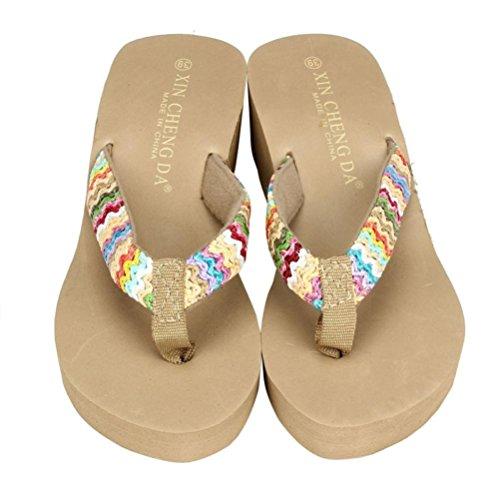 Sandalias y Chancletas de Plataforma para Mujer, QinMM Playa Zapatos de Verano Flip Flops