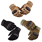 Hook.s Touch Screen Gloves,Non-Slip Winter Warm Cold Weather Windproof Thermal Glove,M,L,XL Motorcycle Outdoor Tactical Army Fan Gloves -