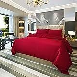 Red Nomad Luxury Duvet Cover & Sham Set - Burgundy King/California...