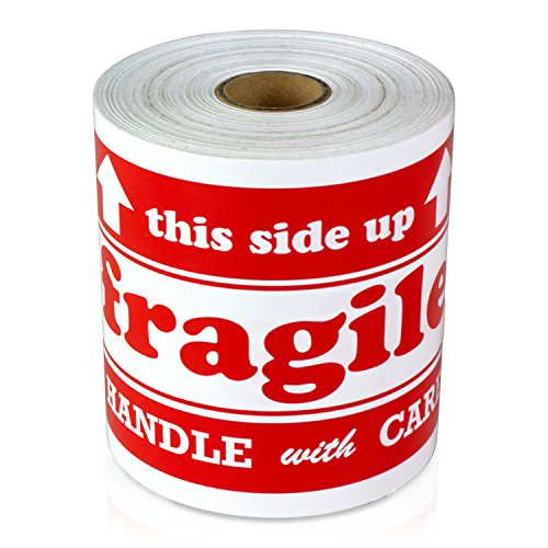 300 4x6 This Side Up Fragile Handle with Care Labels/Stickers (Big Size)