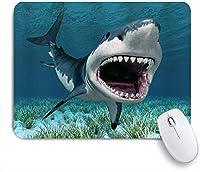 TARTINY ゲーミング マウスパッド,サメの巨人海洋動物が口を開き、水生雑草の水中世界,マウスパッド レーザー&光学マウス対応 マウスパッド おしゃれ ゲームおよびオフィス用 滑り止め 防水 PC ラップトップ