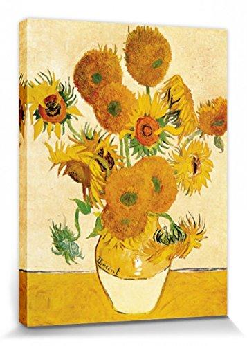 1art1 Vincent Van Gogh - Vierzehn Sonnenblumen In Einer Vase, 1888 Bilder Leinwand-Bild Auf Keilrahmen | XXL-Wandbild Poster Kunstdruck Als Leinwandbild 80 x 60 cm
