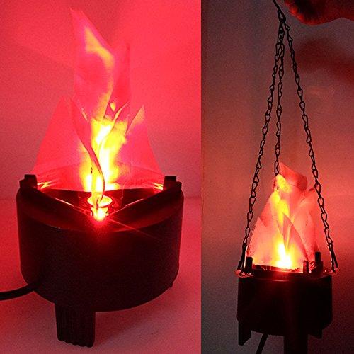 Luz de fuego de simulación LED de llama artificial 3D para Halloween, Navidad, clubes festivales, decoración de fiestas y escenarios con cordón de 40 cm