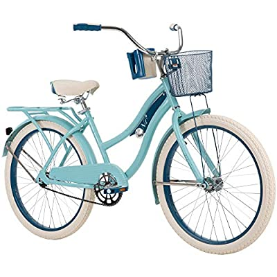 """Huffy 26"""" Nel Lusso Women's Classic Cruiser Bike Frame, Light Blue"""