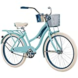 Huffy 24' Nel Lusso Girls' Cruiser Bike, Blue Satin