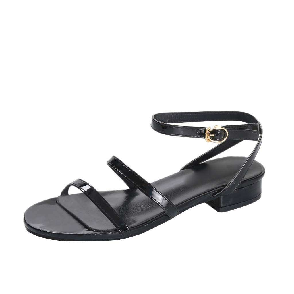 AG&T Sandalias Planas de Mujer Zapatos de Playa Moda Simple Casual ...