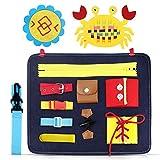 aovowog Giochi Bambini 1 2 3 4 Anni,Busy Board per Bambini,Giocattoli Educativio Giocattoli Montessori per l'apprendimento delle Abilità di Vita,Regalo per Ragazza Ragazzo