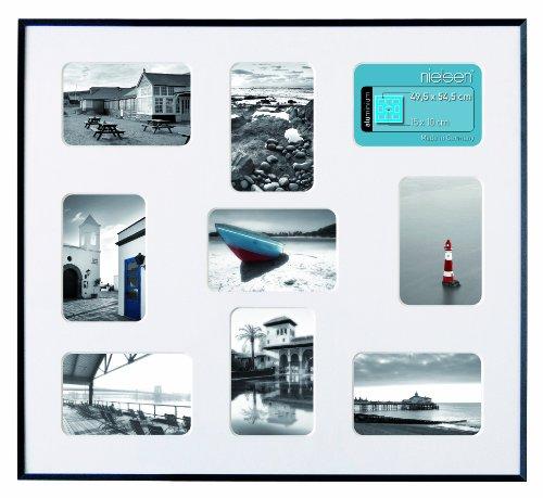 Nielsen Pixel 9 Schwarz 49,5x54,6cm inkl. Passepartout, 9 Fotos Bilderrahmen Collagerahmen