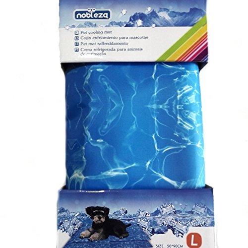 Nobleza - Tappetino Refrigerante in Gel per Cani, Gatti e Animali Domestici, Non tossico. 90 * 50cm, L