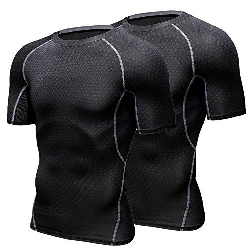 HONENNA 加圧インナー 加圧シャツ 着圧スポーツインナー メンズ 半袖 インナー 男性用機能性肌着 コンプレ...