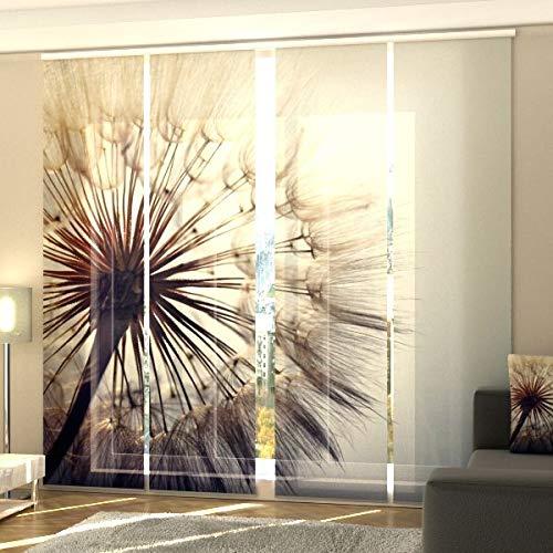 Wellmira Fotogardine, Flächenvorhang, Fotodruck, Schiebevorhang, Bedruckte Schiebegardinen, Gardine mit Motiv, auf Maß (4 x 175x60)
