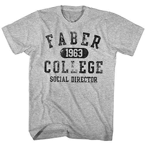 Animal House 1970S College Frat Movie Faber College Social Director Adult Tshirt Gray