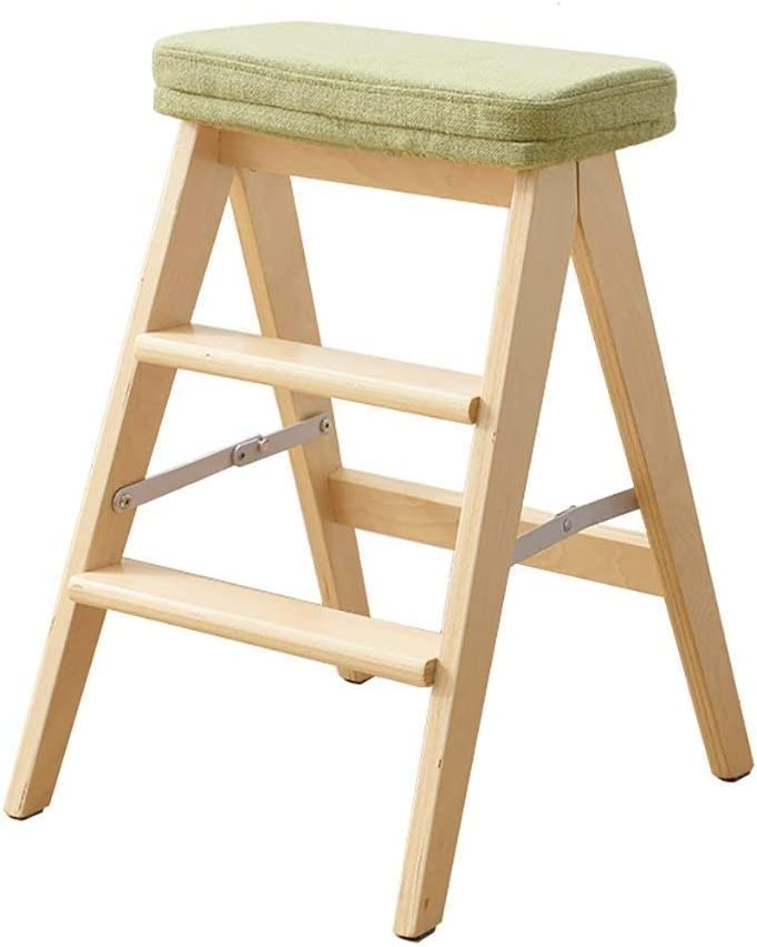 QYJpB Solid Wood Folding Soldering Stool F Ladder Portable Ranking TOP3 Household