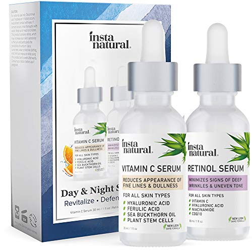 Day & Night Duo Facial Serum Bundle - Vitamin C Serum &...