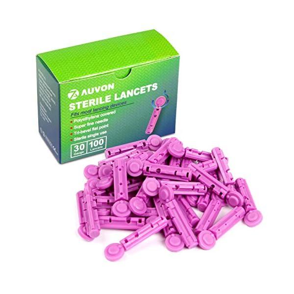 buy  AUVON Blood Lancets, 30 Gauge 100 Twist Top ... Diabetes Care