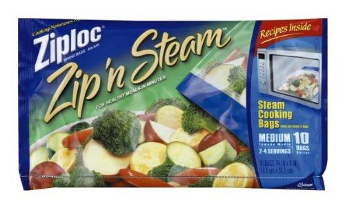 Ziploc Zip N Steam Medium Cooking Bag, 10 ct