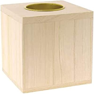La Fourmi - Porte-bougie en bois en forme de cube - 80 x 80 x 80 mm