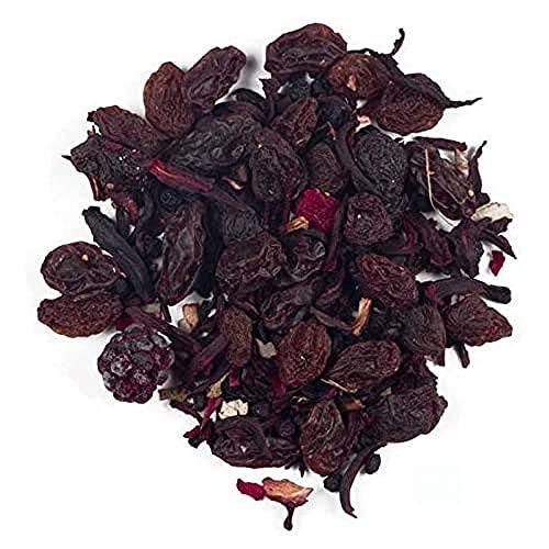 Aromas de Té - Infusión Happy Birthday 2016 con Frambuesas Arándanos Bayas de Saúco/Infusión Frutal con Frutos Rojos Fresas Relajante Antioxidante, 100 gr