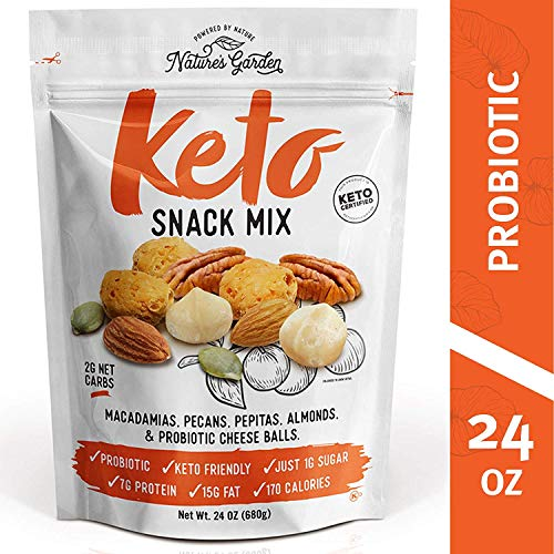 Nature's Garden Keto Functional Snack Mix (Probiotic Cheese Balls) - Delicious & Fresh Flavor Natural Natural Friendly Keto - 24 oz (Pack of 1)