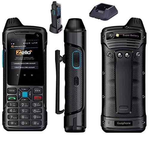 Unlocked 4G LTE Andriod 8.1 Smartphone Waterproof Dual SIM Mobile PTT POC ZELLO Two-Way Radio NFC 5200mAh GPS
