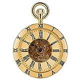 YXZQ Reloj de Bolsillo, números Romanos Dorados/Plateados P