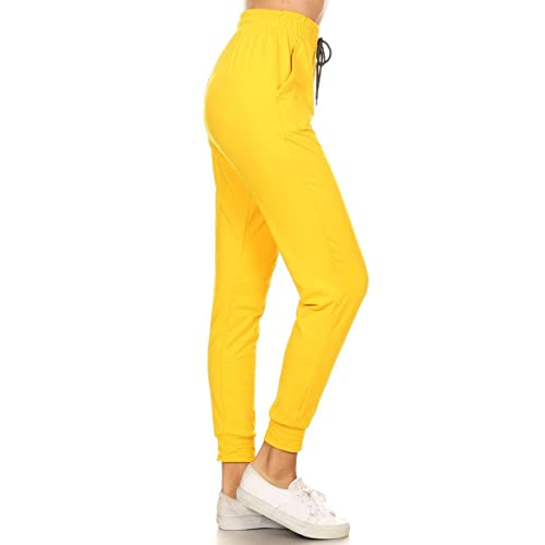 127c2d621722 Leggings Depot Women's Printed Solid Activewear Jogger Track Cuff  Sweatpants Inner Pockets