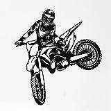yaonuli Adesivo Moto Fuoristrada Decalcomania della Parete del Vinile Decorazione murale Estrema Decalcomania Corsa motociclistica 54X42 cm