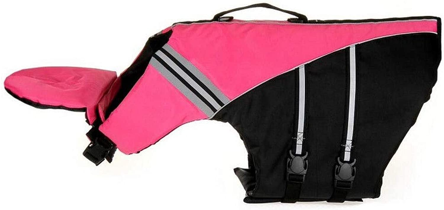 Life Jackets, Portable Dog Swim Vest, Oxford Cloth, Such As Multicolor Options Yellow, (Size   M, S, XS) (color   Pink, Size   M)