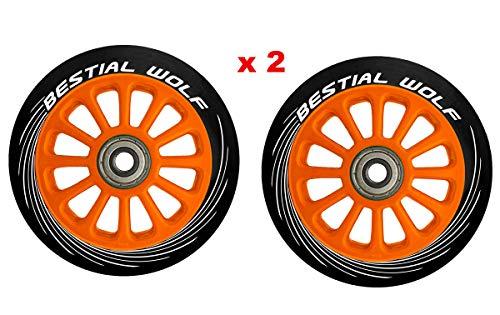 BESTIAL WOLF Pilot XX2 Original-Räder, Durchmesser 100 mm, für Scooter Freestyle, Schwarz