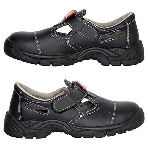 Arbeitssandale Sicherheitssandale Arbeitsschuhe Schutzkappe Sandale S1 (303S1) (43)