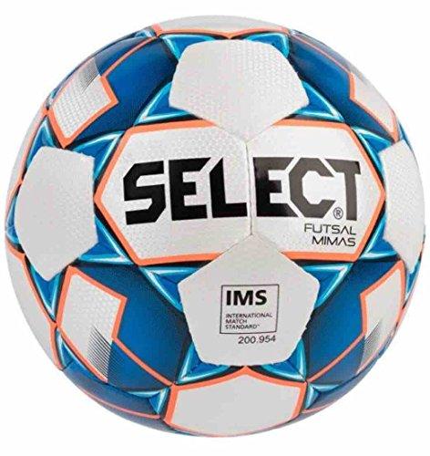 SELECT Mimas - Pallone da futsal I, ufficiale, colore: Bianco/Blu