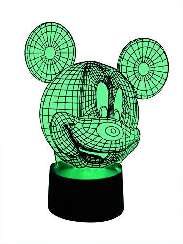 Lampe de table 3D LED originale Mickey Mouse pour chambre d'enfant