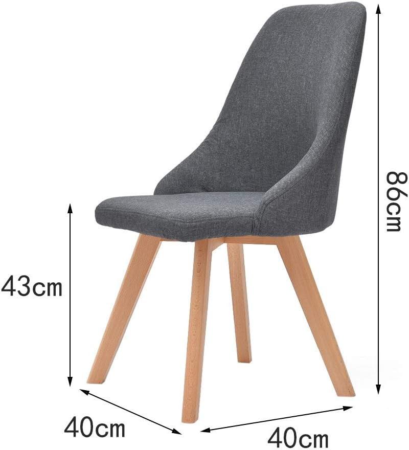 Chaise avec dossier, chaise en bois massif, tabouret de jambe, salon étude salle à manger chaise dressing, chaise minimaliste moderne nordique ++ (Couleur : D) B