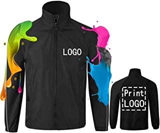 YOWESHOP Long Sleeve Shirts Windbreaker Customize Your Logo Workwear Jackets for Outdoor Team Work Uniform Unisex