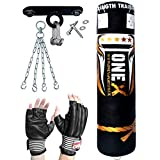 ONEX 5 FT Heavy Filled Boxing Punch Bag Buyer Build Set, Chains,Ceiling,Punching Gloves