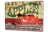 カレンダー Perpetual Calendar World Trip M.A. Allen apple Advertising Tin Metal Magnetic