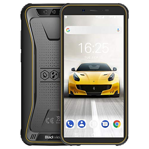 Rugged Smartphone in offerta 4G, Blackview BV5500 Pro Cellulare Antiurto Android 9.0, 5.5 Pollici HD IP68 Telefoni Resistenti, 3GB +16GB, TF 128GB, Batteria 4400mAh, Dual SIM, NFC/GPS/Face ID/Compass