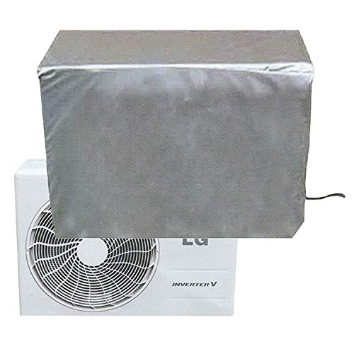 CLAIRLA - Air Conditioner Waterproof Cover for ac Outdoor Unit, AC Condensing HVAC Unit Winter line Set Covers, Slim Duct Hide Cover kit (37.8'x34.2'x15'inch)