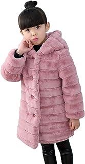 b8ac32104 Suncaya Bebé Niñas Invierno de Pieles sintética Abrigo cálido Chaqueta de  Capa Oreja
