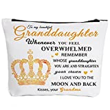 To My Granddaughter Gifts Graduation Gifts for Granddaughter Birthday Gifts Back to School Gift Granddaughter Gifts from Grandma, Wedding Gifts for Granddaughter Makeup Bag-You are My Sunshine