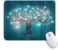 TARTINY ゲーミング マウスパッド,奇跡のメッセージと花を信じて命を咲かせるホタル,マウスパッド レーザー&光学マウス対応 マウスパッド おしゃれ ゲームおよびオフィス用 滑り止め 防水 PC ラップトップ