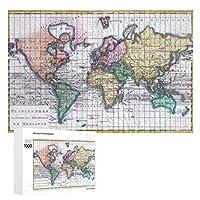 INOV 世界(1780年) ヴィンテージ 地図 ジグソーパズル 木製パズル 1000ピース インテリア 集中力 75cm*50cm 楽しい ギフト プレゼント