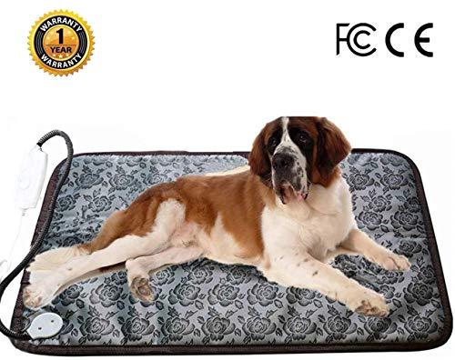 """Ubei - Alfombrilla de calefacción eléctrica para Perro y Gato, Ajustable, Resistente al Agua, Cuerda de Acero antimordeduras, para Mascotas, Mantas y caseta de Mascotas Grandes (68,3"""" x 18,9"""")"""