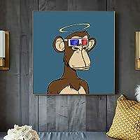 漫画の動物面白い退屈な猿 /数字によるペイント /によるペイント 大人・子供・初心者用 アクリルペイント 数字による絵画 絵画 キット /描画 クリスマス装飾 デコレーションギフト /フレームレス